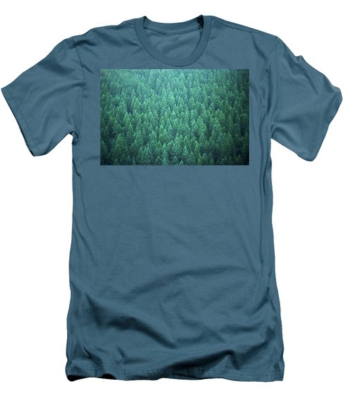Men's T-Shirt (Slim Fit) featuring the photograph Evergreen by Laurie Stewart