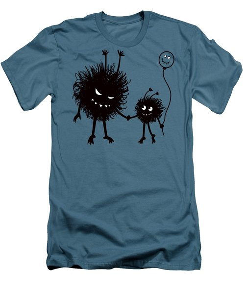 Evil Bug Mother And Child Men's T-Shirt (Athletic Fit)
