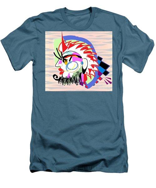Exotic Mask Men's T-Shirt (Slim Fit) by Belinda Threeths