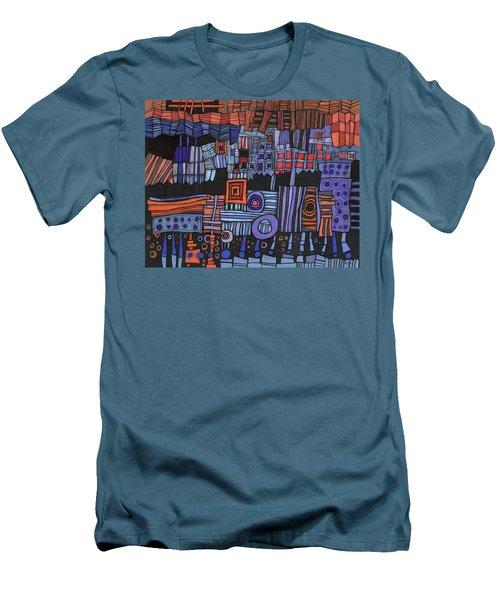 Exterior Facade Men's T-Shirt (Slim Fit) by Sandra Church