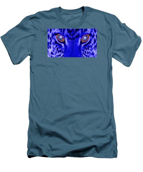 Eyes Of The Leppard Men's T-Shirt (Slim Fit) by Luisa Gatti