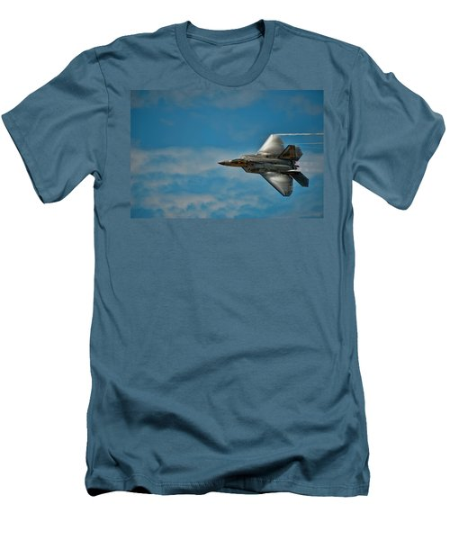 F22 Raptor Steals The Show Men's T-Shirt (Athletic Fit)