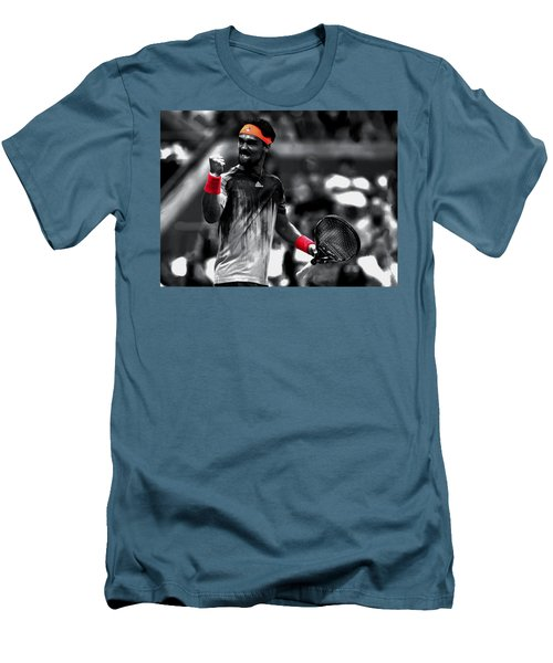 Fabio Fognini Men's T-Shirt (Slim Fit) by Brian Reaves