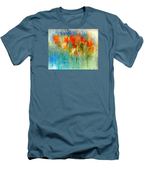 Faded Warm Autumn Wind Men's T-Shirt (Slim Fit) by Lisa Kaiser
