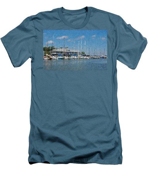 Fairhope Yacht Club Impression Men's T-Shirt (Slim Fit) by Michael Thomas