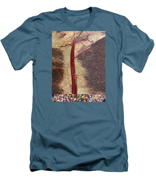Fall Men's T-Shirt (Slim Fit) by Haleh Mahbod