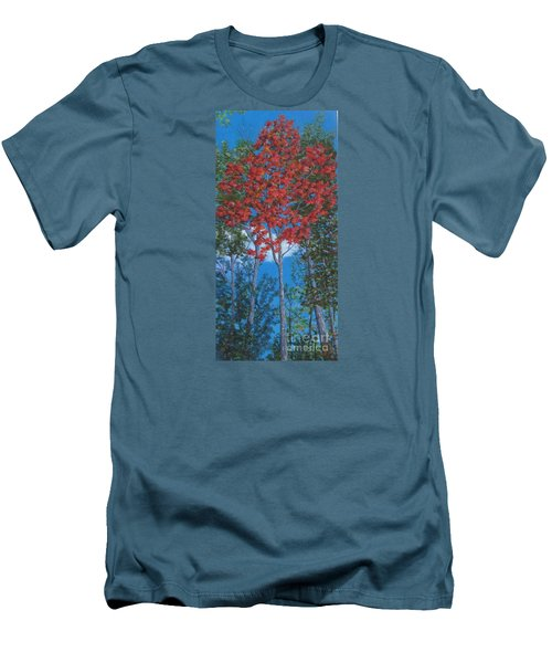 Fall In Asheville Men's T-Shirt (Slim Fit) by Anne Marie Brown