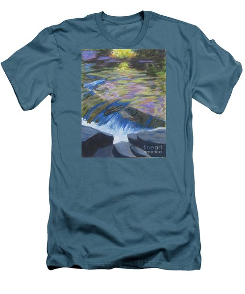 Fall Reflections Men's T-Shirt (Slim Fit) by Anne Marie Brown