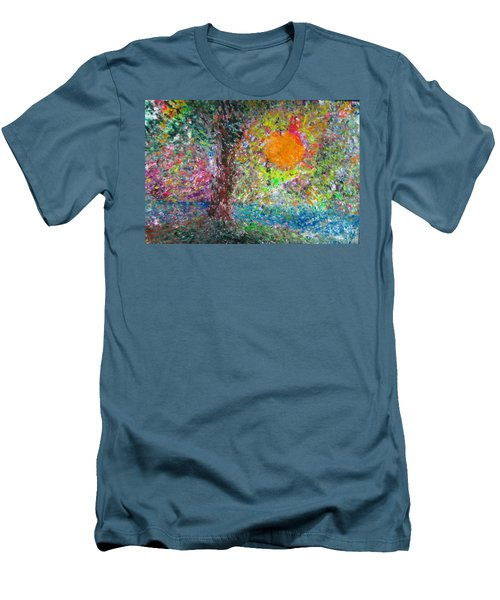 Men's T-Shirt (Slim Fit) featuring the painting Fall Sun by Jacqueline Athmann