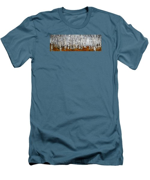 Men's T-Shirt (Slim Fit) featuring the painting Fallen by Chad Berglund