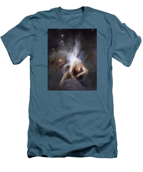 Falling Star Men's T-Shirt (Slim Fit) by Witold Pruszkowski