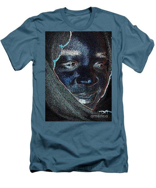 Fania Black Men's T-Shirt (Slim Fit) by Fania Simon