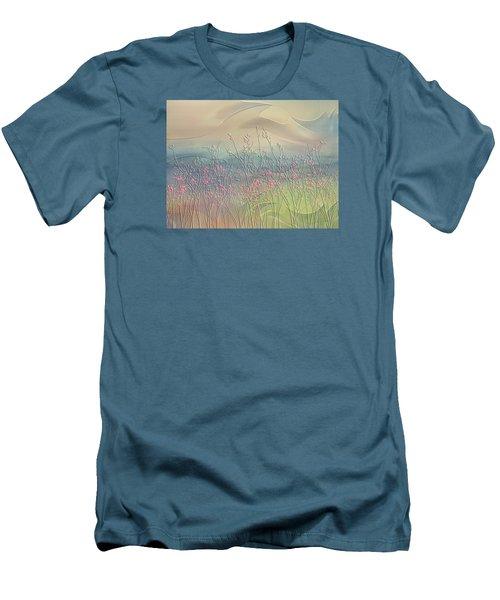 Men's T-Shirt (Slim Fit) featuring the digital art Fantasy Fields by Nina Bradica