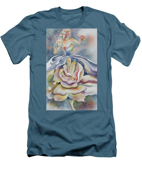 Fantasy Rose Men's T-Shirt (Slim Fit) by Mary Haley-Rocks