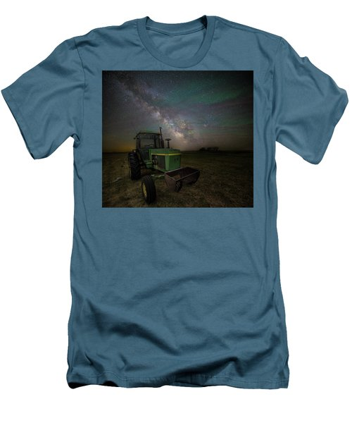 Men's T-Shirt (Athletic Fit) featuring the photograph Farming The Rift 7 by Aaron J Groen