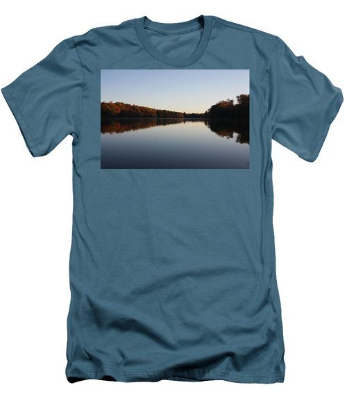 Men's T-Shirt (Athletic Fit) featuring the photograph Farrington Lake Autumn by Vadim Levin