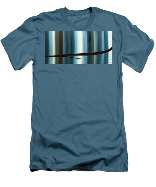 Men's T-Shirt (Slim Fit) featuring the painting Feeling Engaged by Carmen Guedez