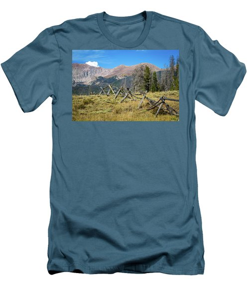 Fences Into The Rockies Men's T-Shirt (Slim Fit) by Dawn Romine