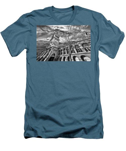 Ferry Building Black  White Men's T-Shirt (Athletic Fit)