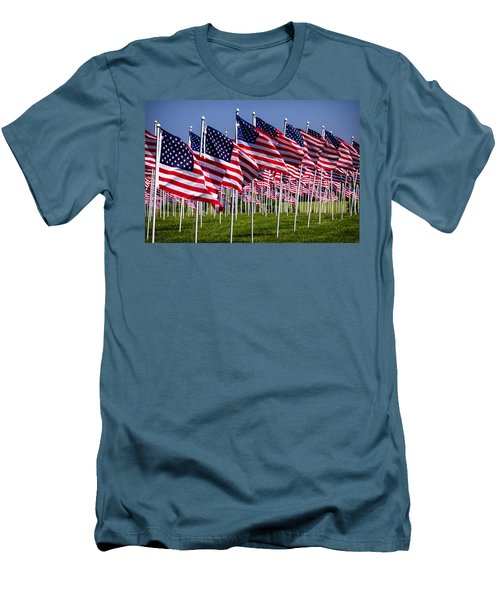 Field Of Flags For Heroes Men's T-Shirt (Athletic Fit)