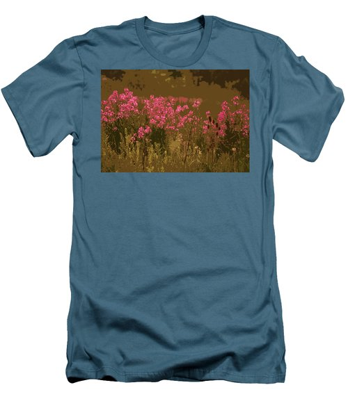 Men's T-Shirt (Slim Fit) featuring the photograph Field Of Flowers by Rowana Ray