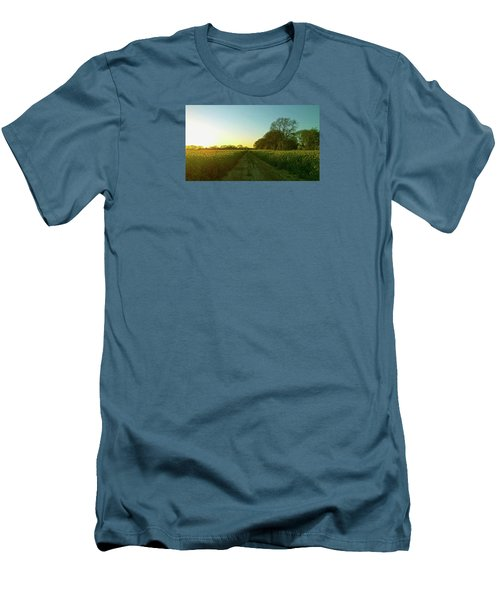 Men's T-Shirt (Athletic Fit) featuring the photograph Field Of Gold by Anne Kotan