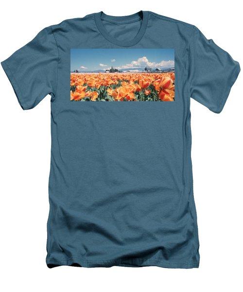 Field Of Orange Men's T-Shirt (Athletic Fit)