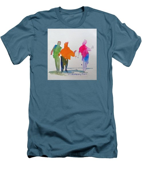 Figures In Motion  Men's T-Shirt (Slim Fit) by P Anthony Visco