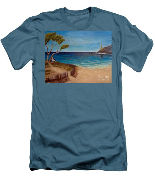 Finding My Special Place In The Summertime  Men's T-Shirt (Slim Fit) by Kimberlee Baxter