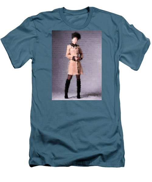 Men's T-Shirt (Slim Fit) featuring the digital art Fiona by Nancy Levan