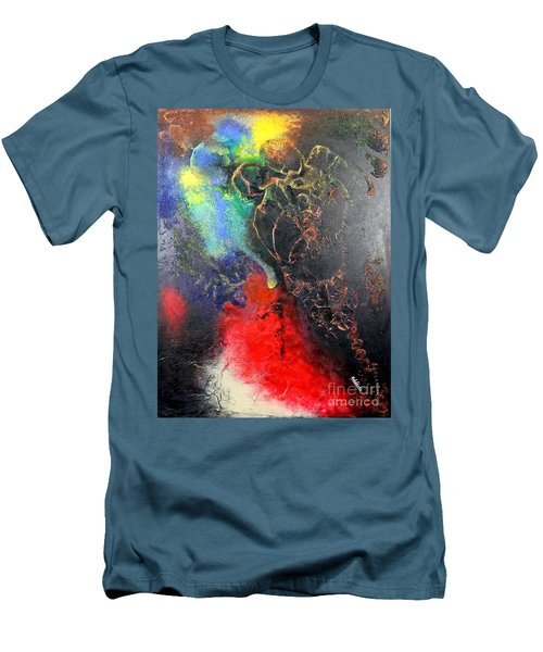 Fire Of Passion Men's T-Shirt (Slim Fit) by Farzali Babekhan