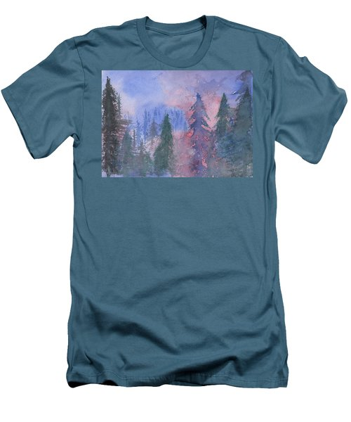 Fire On The Mountain Men's T-Shirt (Athletic Fit)