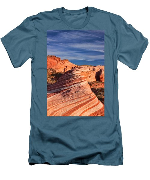 Fire Wave Men's T-Shirt (Slim Fit) by Tammy Espino