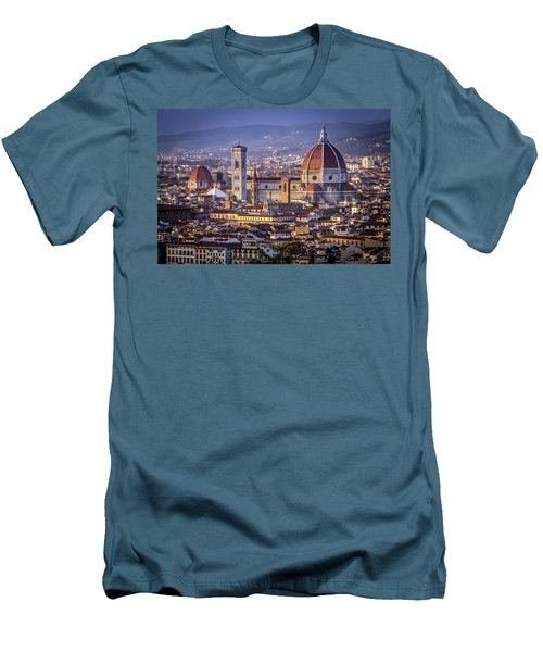Men's T-Shirt (Slim Fit) featuring the photograph Firenze E Il Duomo by Sonny Marcyan