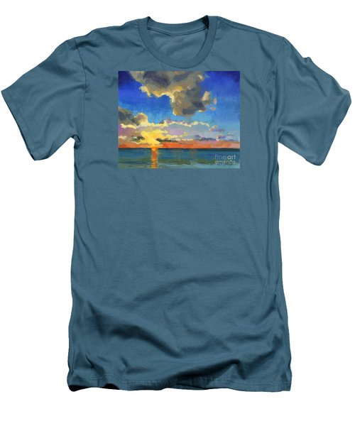Men's T-Shirt (Slim Fit) featuring the painting First Light by Nancy  Parsons