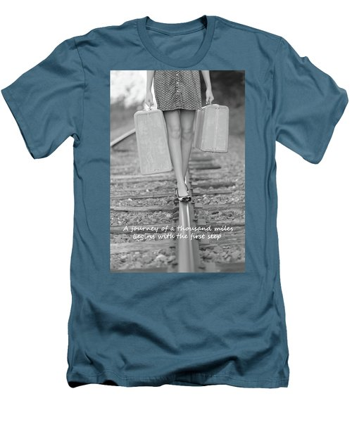 Men's T-Shirt (Slim Fit) featuring the photograph First Step by Barbara West