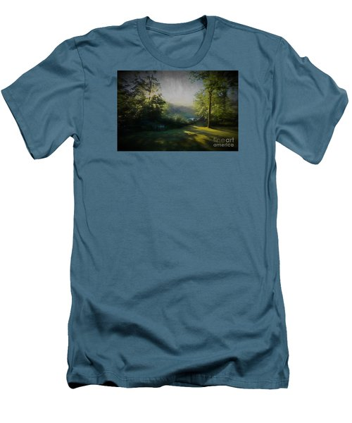 Men's T-Shirt (Slim Fit) featuring the painting First Sun by Mim White