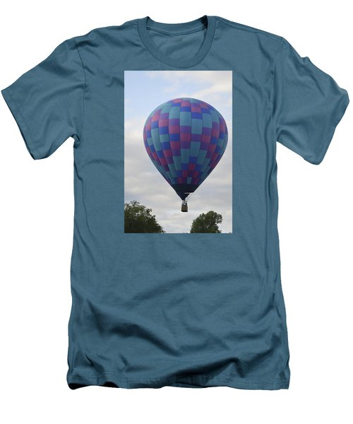 First To Take Off For The Atlantic Men's T-Shirt (Slim Fit) by Linda Geiger