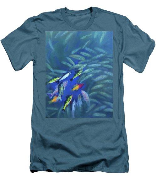 Fish Bowl Men's T-Shirt (Slim Fit)