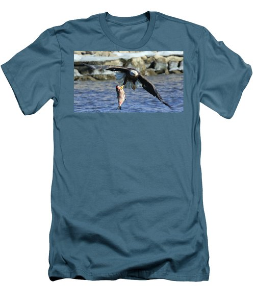 Men's T-Shirt (Slim Fit) featuring the photograph Fish In Hand by Coby Cooper