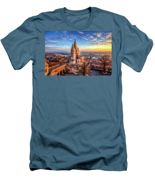 Men's T-Shirt (Slim Fit) featuring the photograph Fisherman's Bastion In Budapest by Shawn Everhart