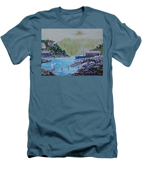 Fisher's Cove Men's T-Shirt (Slim Fit) by Mike Caitham