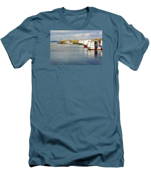 Fishing Boats At Feltzen South Men's T-Shirt (Slim Fit) by Ken Morris