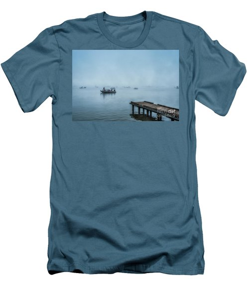 Fishing In The Fog Summersville Lake  Men's T-Shirt (Athletic Fit)