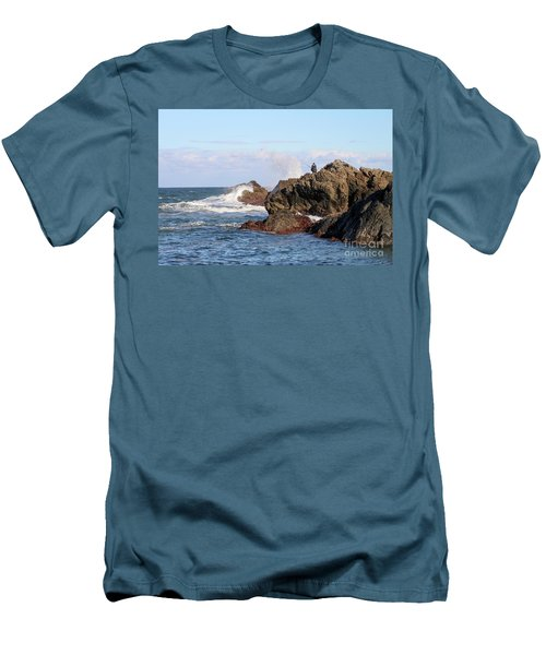 Men's T-Shirt (Athletic Fit) featuring the photograph Fishing by Linda Lees