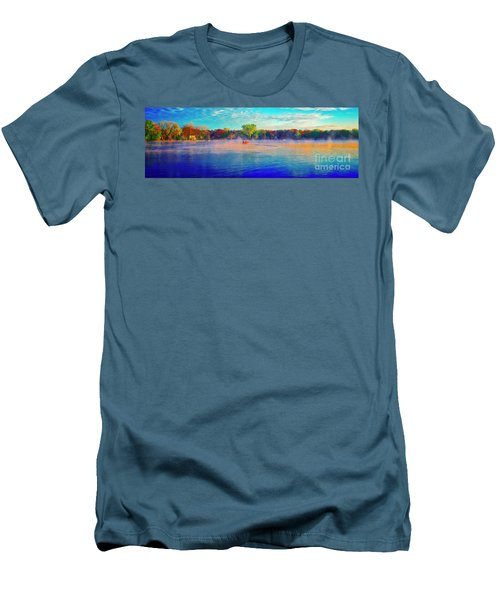 Fishing On Crystal Lake, Il., Sport, Fall Men's T-Shirt (Athletic Fit)