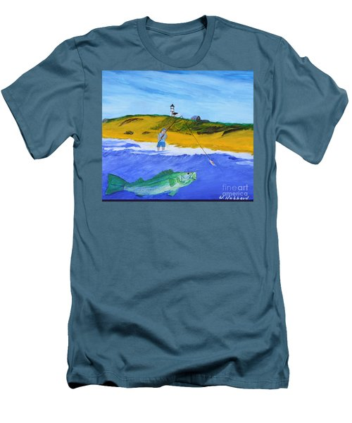 Fishing Under Highland Light Men's T-Shirt (Athletic Fit)