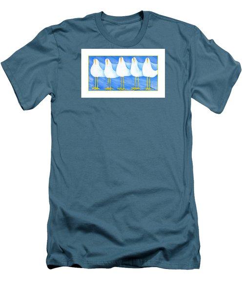 Five Seagulls Men's T-Shirt (Slim Fit) by Pat Olson