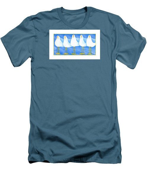 Five Seagulls Men's T-Shirt (Athletic Fit)