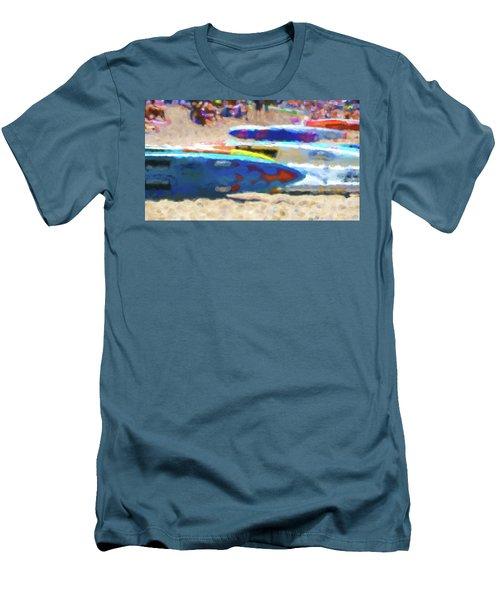 Flaming Kayak Watercolor 1 Men's T-Shirt (Athletic Fit)